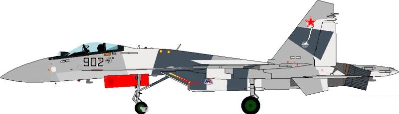 Su-35-2 - 2nd prototype of